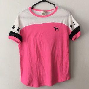 Pink by Victoria's Secret Mesh Shoulder T-shirt